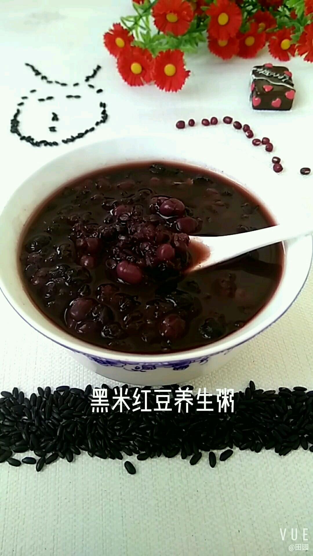 黑米红豆养生粥