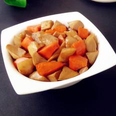 红烧杏鲍菇胡萝卜