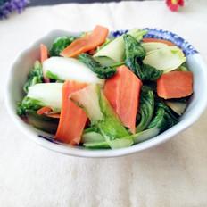 油菜炒胡萝卜的做法
