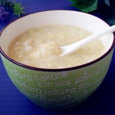 百合双米粥的做法