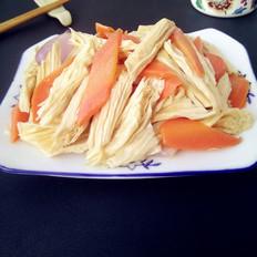 腐竹炒胡萝卜的做法