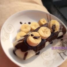 巧克力味香蕉烤年糕