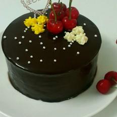 巧克力镜面淋面蛋糕