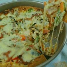 火腿芝士披萨