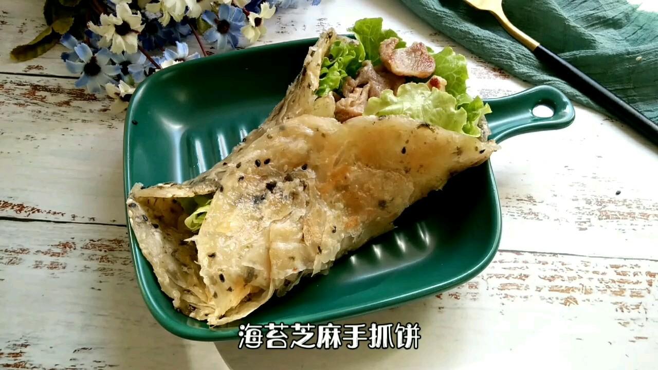 海苔芝麻手抓饼