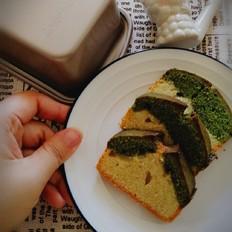 香草抹茶双拼磅蛋糕