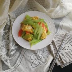 莴苣丝胡萝卜炒蛋