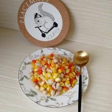 玉米胡萝卜丁炒鸡胸肉