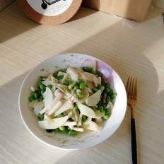 茭白海鲜菇炒毛豆