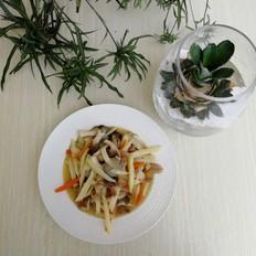 茭白蘑菇炒肉丝