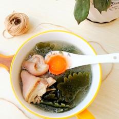 猪脚圈海带汤