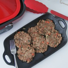香菇胡萝卜肉饼