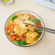 鲍鱼干贝xo酱浇汁豆腐