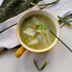 冬瓜毛豆榨菜汤