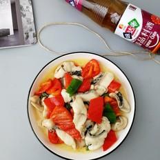 青红椒炒黑鱼片