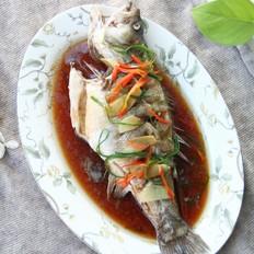 澆汁清蒸鱸魚