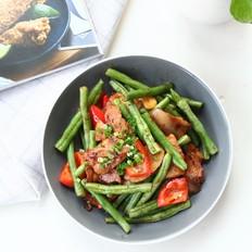 酱香四季豆炒肉片
