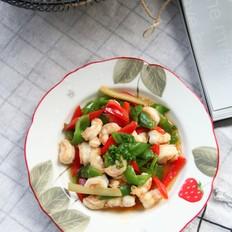 蚝油青红椒炒虾仁的做法