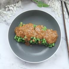 不一样的家常菜,花生酱蘸汁豆角