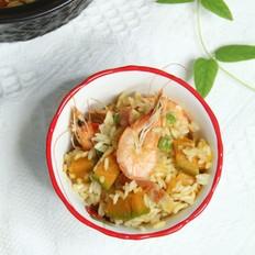 南瓜鲜虾焖饭