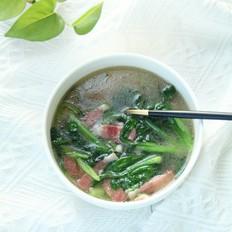 青菜培根汤