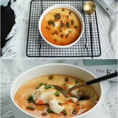 毛豆胡萝卜虾仁水蒸蛋