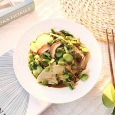 好吃下饭小菜,雪里蕻笋片香菇炒豆瓣