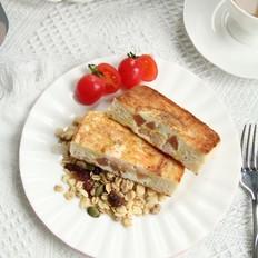 外脆里嫩的虾仁滑蛋三明治