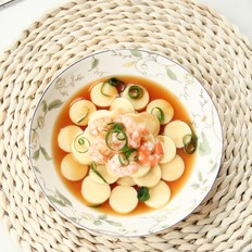 鸡蛋豆腐蒸虾仁