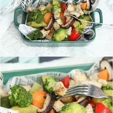 美味营养鸡胸肉烤蔬菜