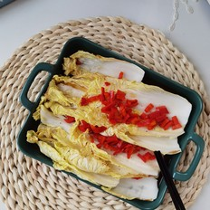 脆嫩锡纸红椒烤娃娃菜