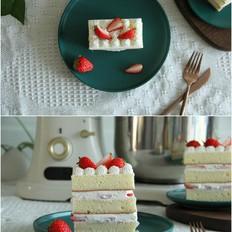 酸酸甜甜草莓切片蛋糕,下午茶小点心安排!