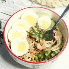 低脂鸡胸肉虾仁蔬菜沙拉