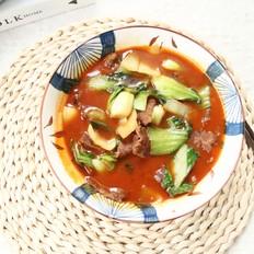 好吃入味的青菜炖牛肉,微辣鲜香,十分入味的做法