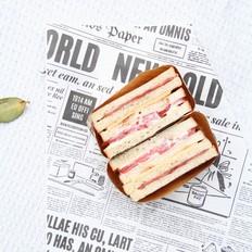 料多多4层厚切培根芝士三明治,外脆里嫩,光吃不胖的做法