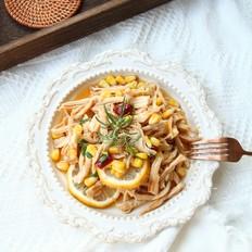 无油开胃菜,百香果柠檬鸡胸肉丝的做法