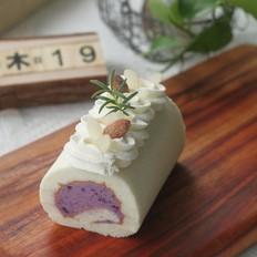 清甜不腻,高颜值紫薯香草天使卷的做法