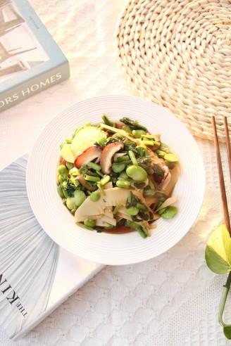 好吃下饭小菜,雪里蕻笋片香菇炒豆瓣的做法