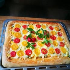 时蔬水果披萨