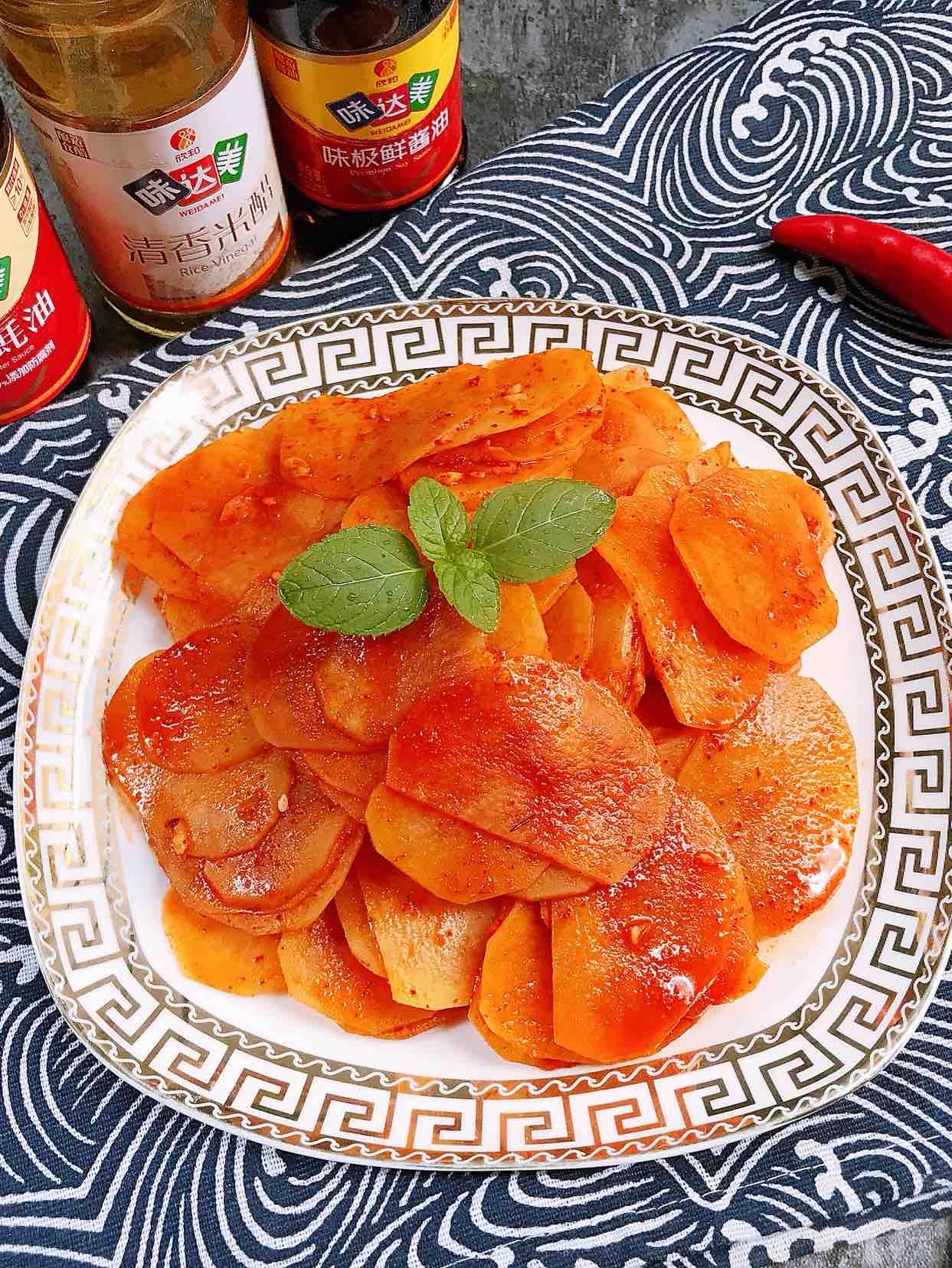 凉拌红油土豆片