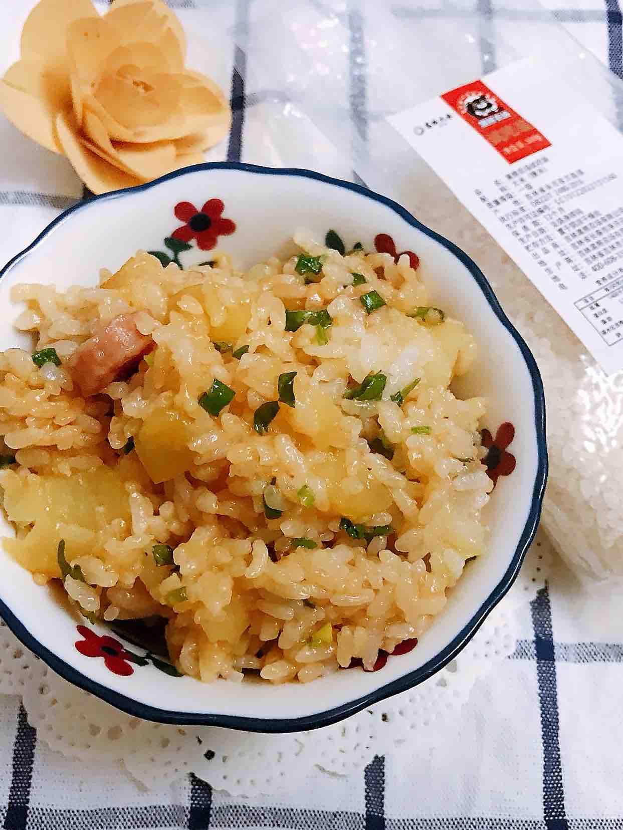 快手版土豆腊肠焖饭
