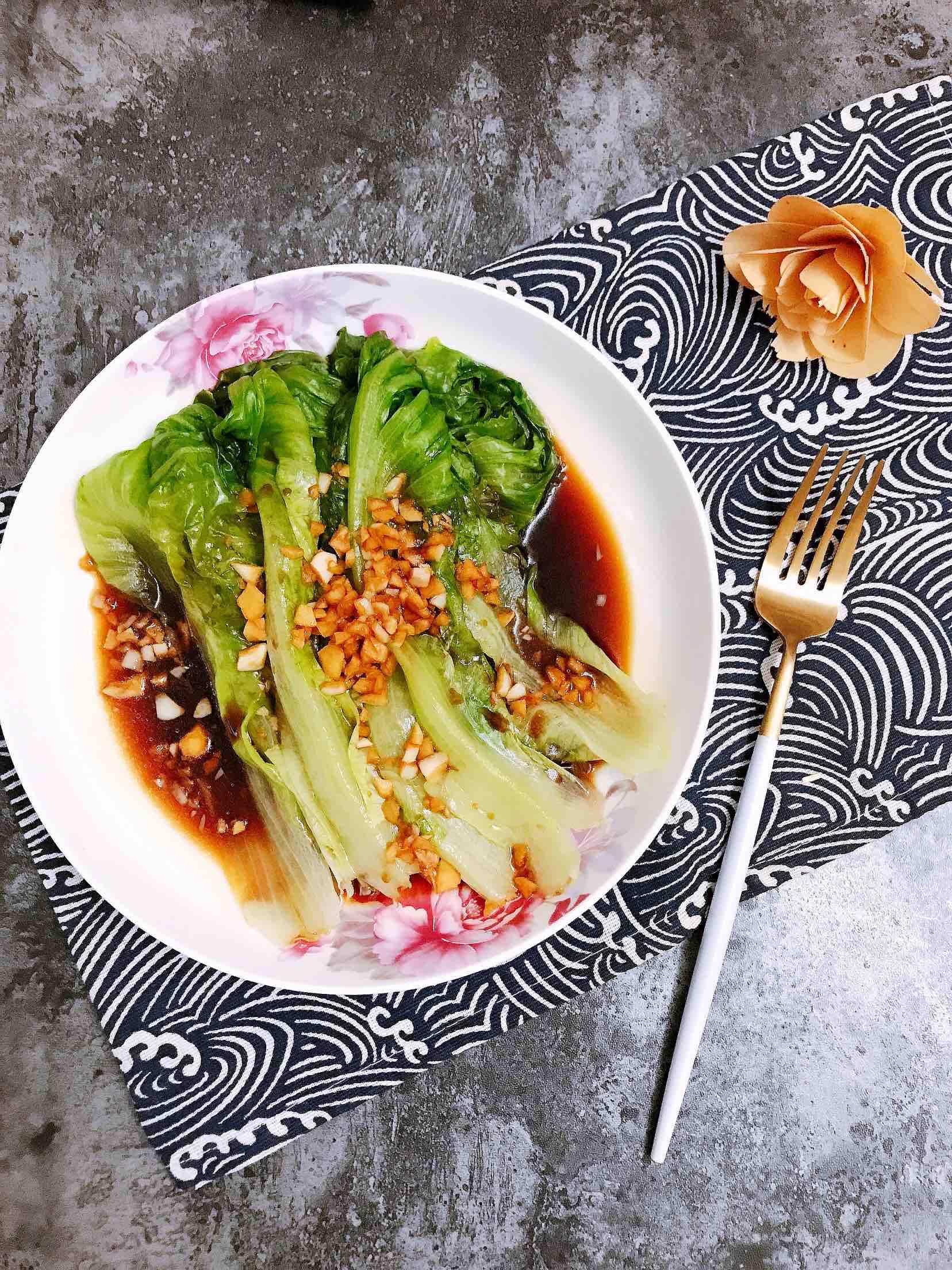蒜蓉蚝油淋生菜