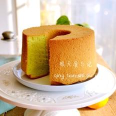 冬日里的一抹春色——菠菜戚风蛋糕!