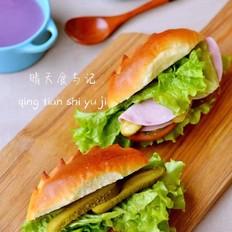 维也纳牛奶面包三明治!
