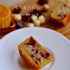 中西合璧的蔓越莓莲蓉月饼!