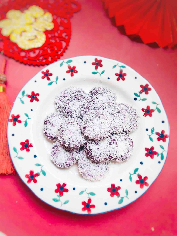紫薯糯米椰蓉小丸子