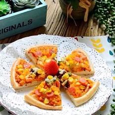 蛋黄火腿披萨