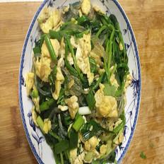 凉拌菠菜粉丝鸡蛋