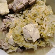 酸菜冻豆腐炖脊骨