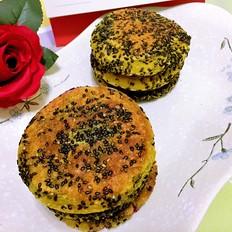 南瓜紫薯黑芝麻饼